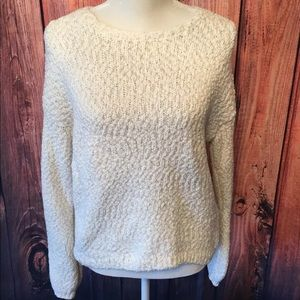 Ruby moon - metallic gold and white sweater